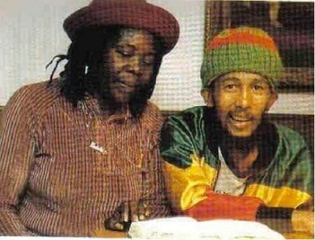 The last photo taken of Bob Marley before he died at age 36 in 1981.