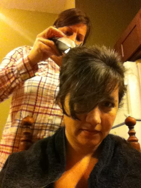 pre-chemo cancer haircut