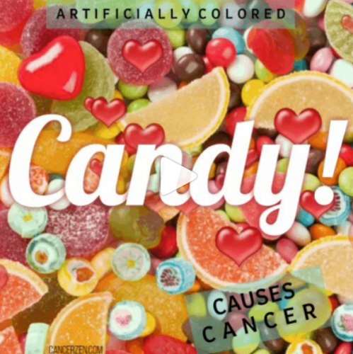 Arificially colored candy causes cancer