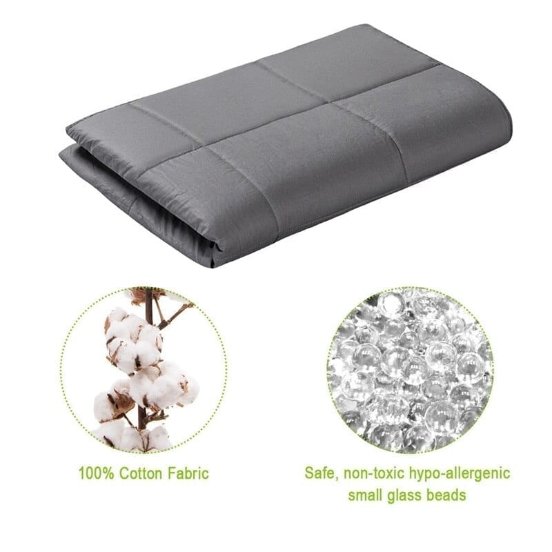 Premium brushed cotton weighted blanket with lead-free glass beads