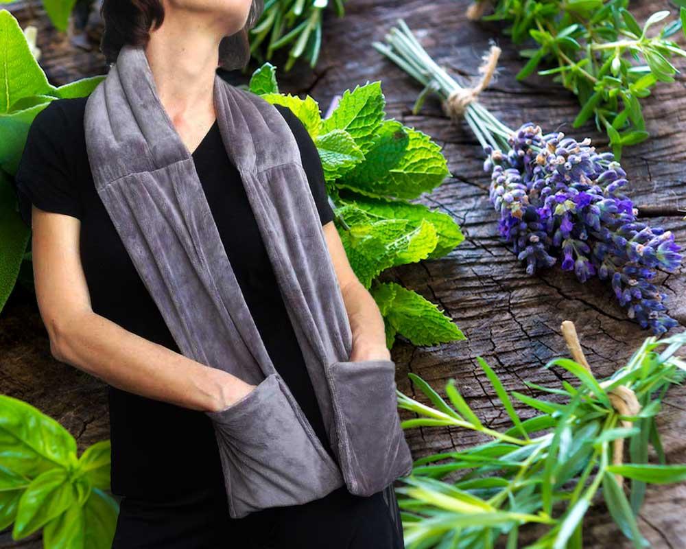 Organic warming heat pack scarf