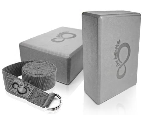 non-toxic yoga blocks and strap set