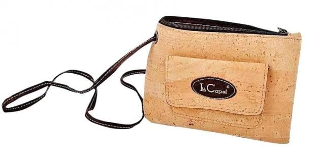 "Vegan Cork ""Leather"" Crossbody bag"